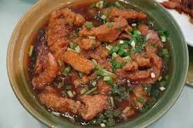 Fried fish with sauce
